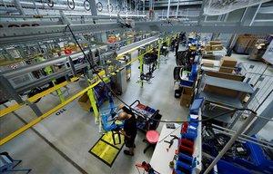 Una fábrica de bicicletas eléctricas.