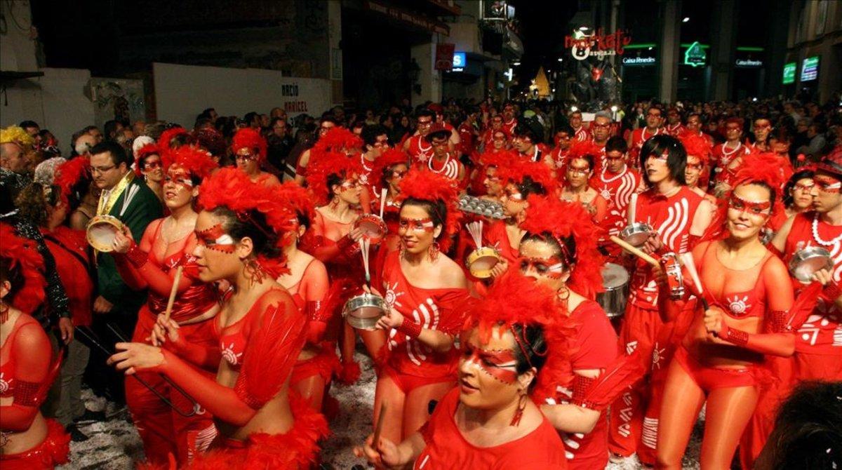 Una rúa del carnaval de Sitges, en el 2011.