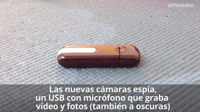 El USB espía, de venta en la Web, graba fotos y vídeo con audio.