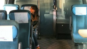 Vagón del AVE Barcelona-Madrid