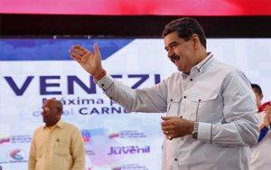 Nicolás Maduro en un acto público en Venezuela.