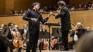 El violinista Joshua Bell, el pasado sábado en el Auditori.