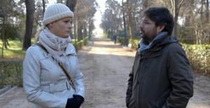 Zaida Cantera con Jordi Évole en el programa de este domingo.
