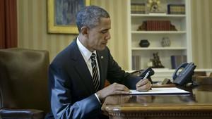 Aquesta és la carta que va deixar Obama a Trump al Despatx Oval