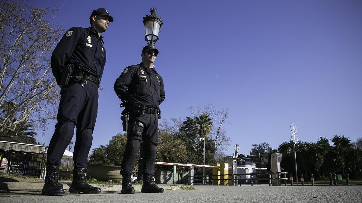 La Policía, en una imagen de archivo.