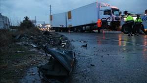 Los vehículos involucrados en el accidente del domingo en la N-340.