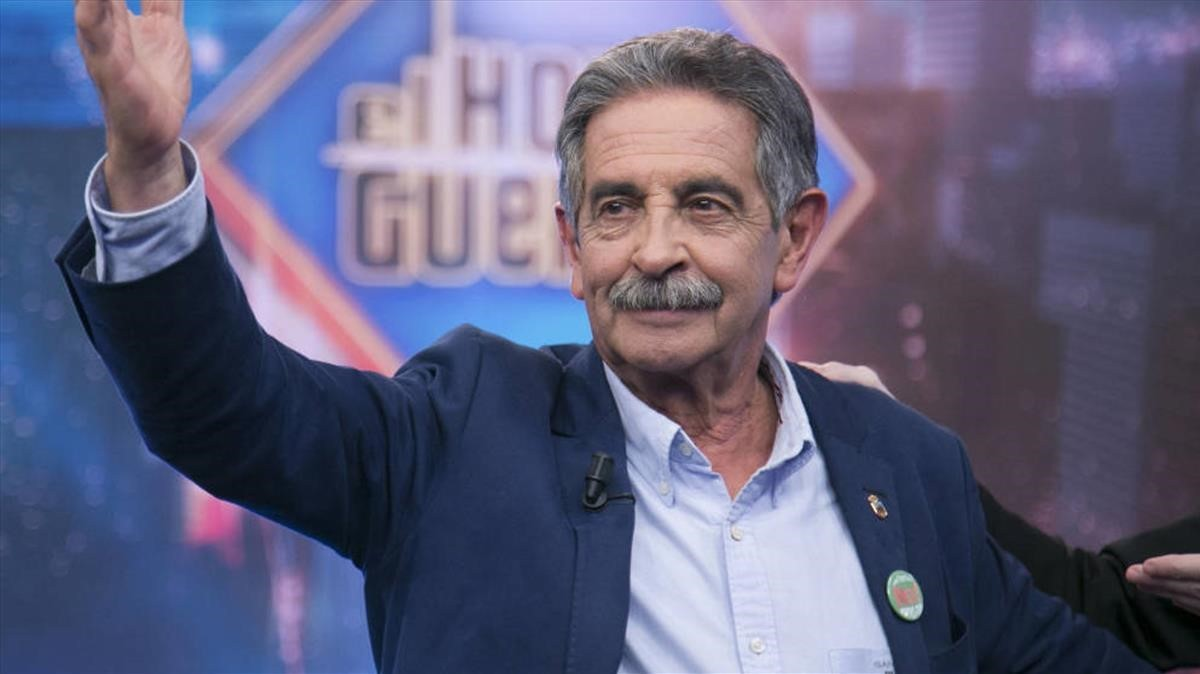 Miguel Ángel Revilla, presidente de Cantabria, durante su intervención en el programa de Antena 3 El hormiguero.