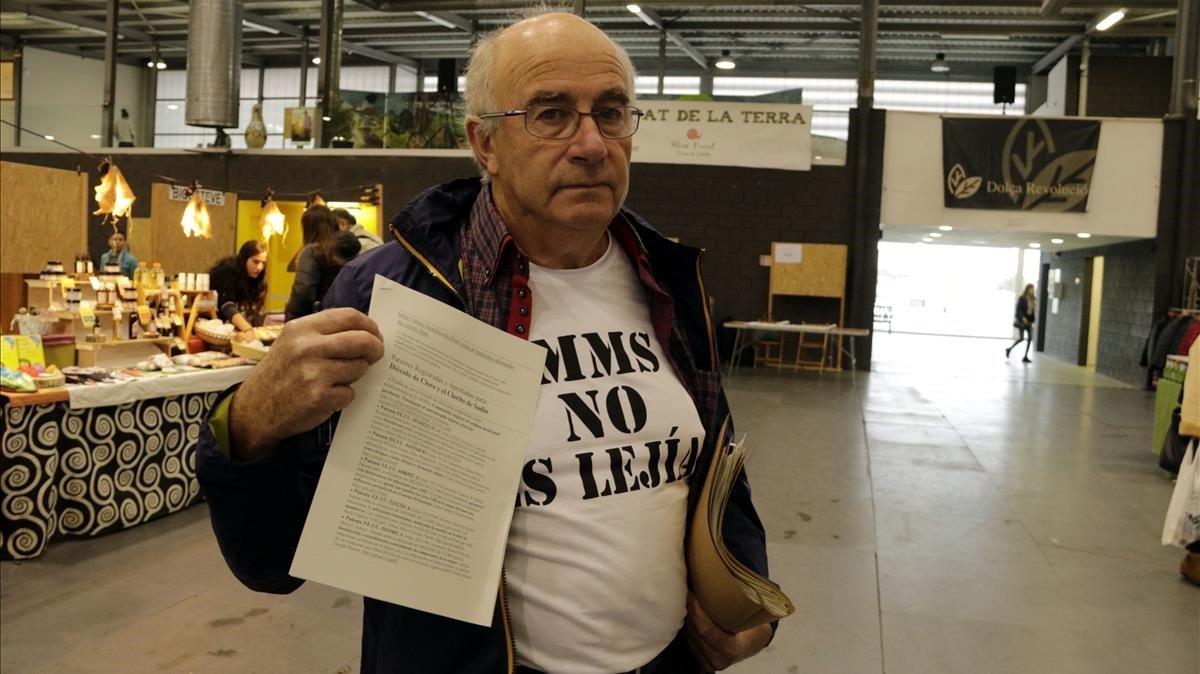 El payés Josep Pàmies durantela Fira de l'Alimentació de Balaguer del 2018