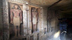 Interior de la tumba de 4.000 años de antigüedad localizada en Egipto.