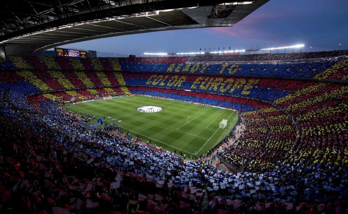 Mosaico en el Camp Nou.
