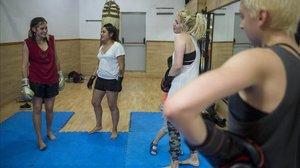Kickboxing en el Sant Pau, en mayo del año pasado.