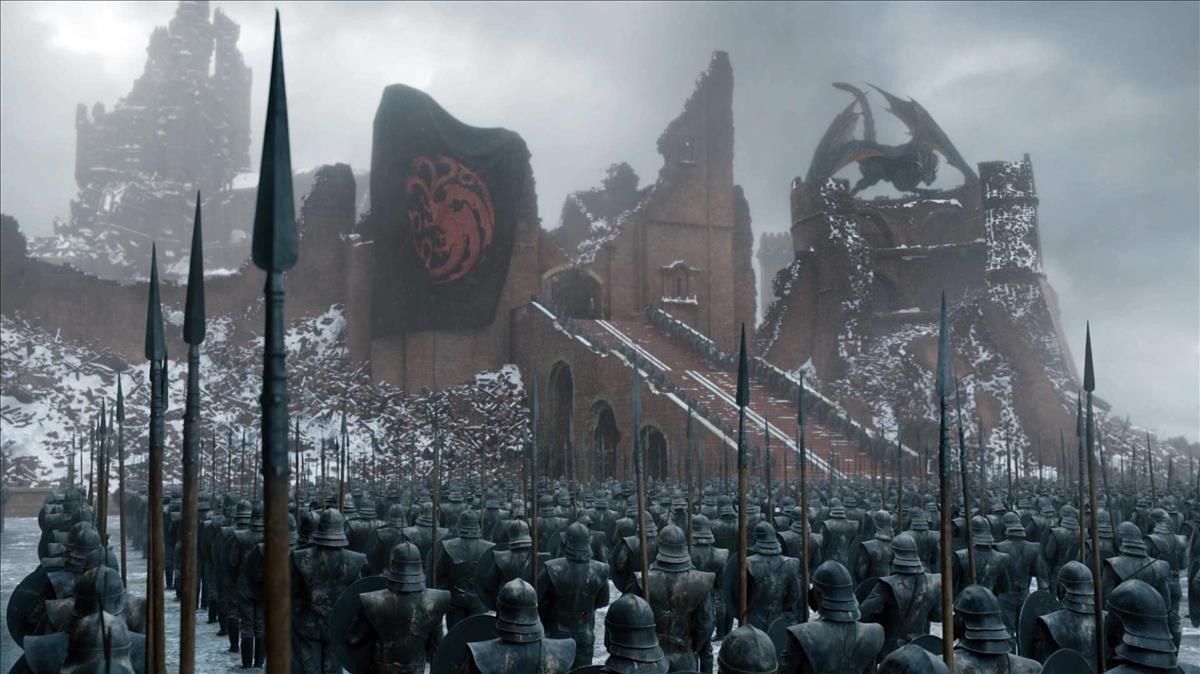 Una imagen del último capítulo de 'Juego de tronos'.