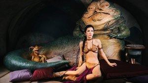 La princesa Leia, esclavizada por el impresentable Jabba, en la versión que provocadoramente exhibe el Museo de Madame Tussauds de Londres.