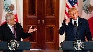 López Obrador y Trump, durante la conferencia de prensa en la Casa Blanca.