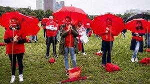 Protestas por los estragos del coronavirus en Holanda.