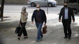 Josep Maria Mainat a su llegada a la Ciutat de la Justícia para declarar ante el juez