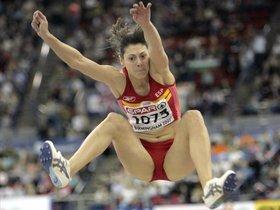 El salto de Montaner en el Europeo de Birmingham 2007.