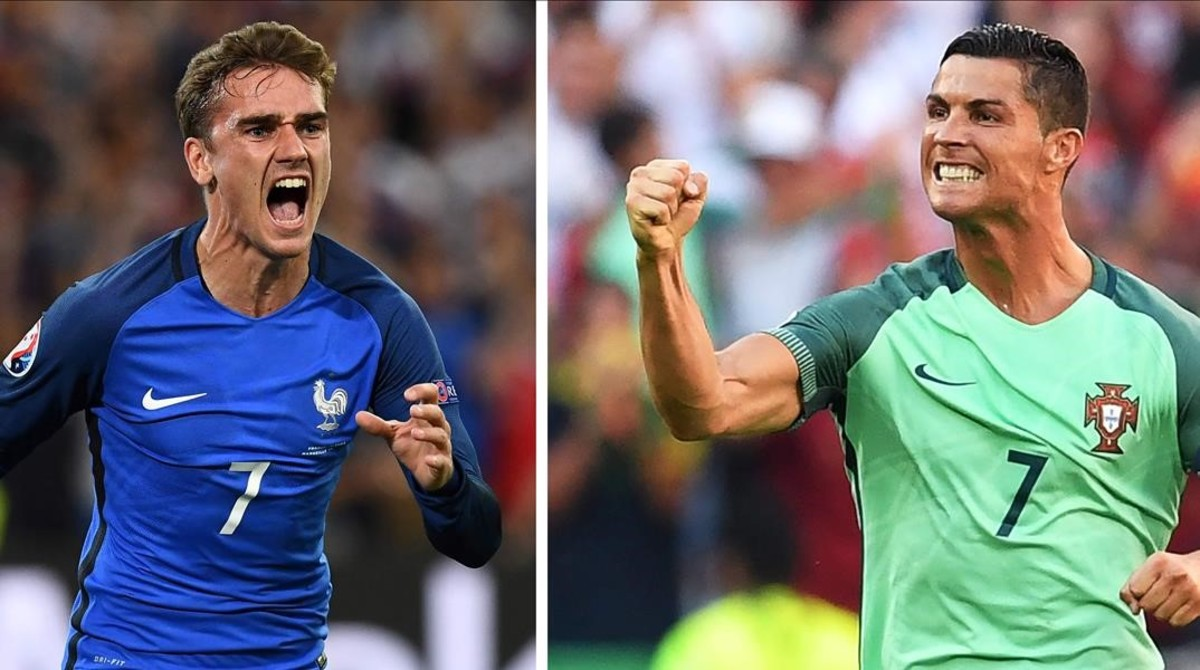 6169200d4e Griezmann y Cristiano Ronaldo festejan goles en la Eurocopa de Francia.