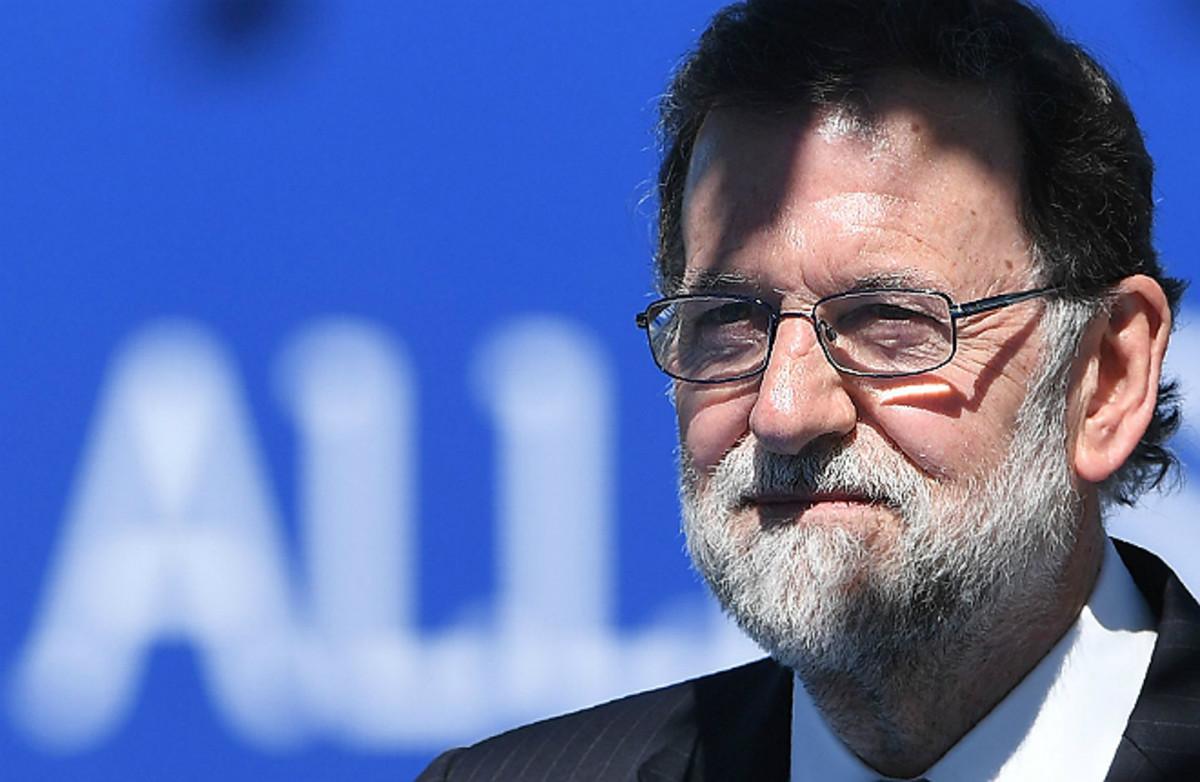 Mariano Rajoy, en Bruselas, este mediodía.