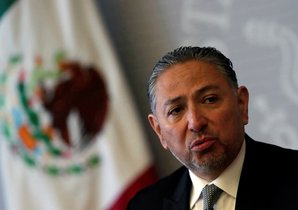 Ambassador Jacob Prado Gonzalez  Director General for the Protection of Mexicans Abroad  speaks during a news conference about the case of Roberto Ramos Moreno  a Mexican who was convicted of capital murder of his wife and two children and sentenced to death in the U S. REUTERS Henry Romero