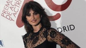 Laactriz madrileña Penélope Cruz, en la gala de los Premios de la Unión de Actores y Actrices, el pasado 13 de marzo en Madrid.