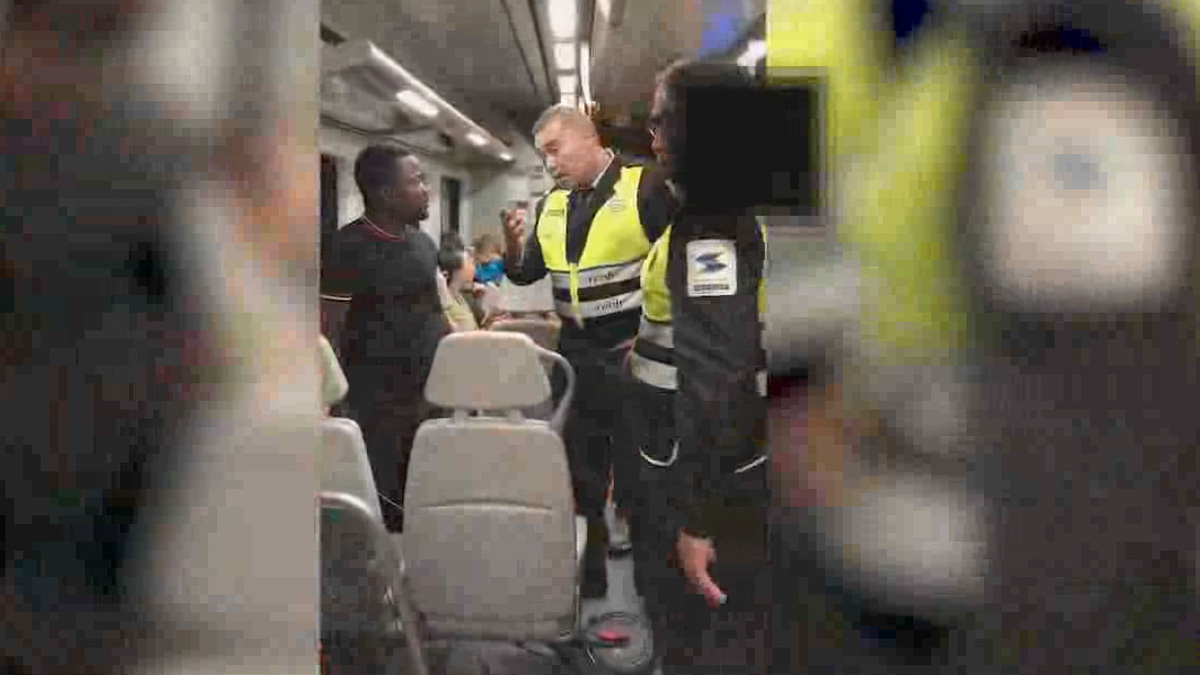Vigilantes de Renfe agreden a un joven negro que se negó a mostrar su billete | Vídeo