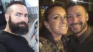 Albert López (izquierda), y Rosa Peral conla víctima, Pedro Rodríguez.