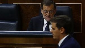 Albert Rivera y Mariano Rajoy, en el Congreso