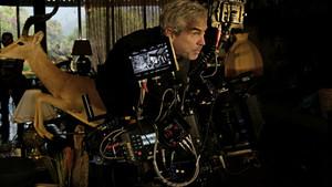 Alfonso Cuarón, en el rodaje de Roma
