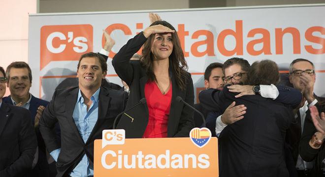 Inés Arrimadas, de Ciutadans, reclama nuevas elecciones tras los resultados del 27-S.