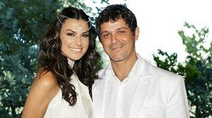 Alejandro Sanz y Raquel Perera, el día de su boda.
