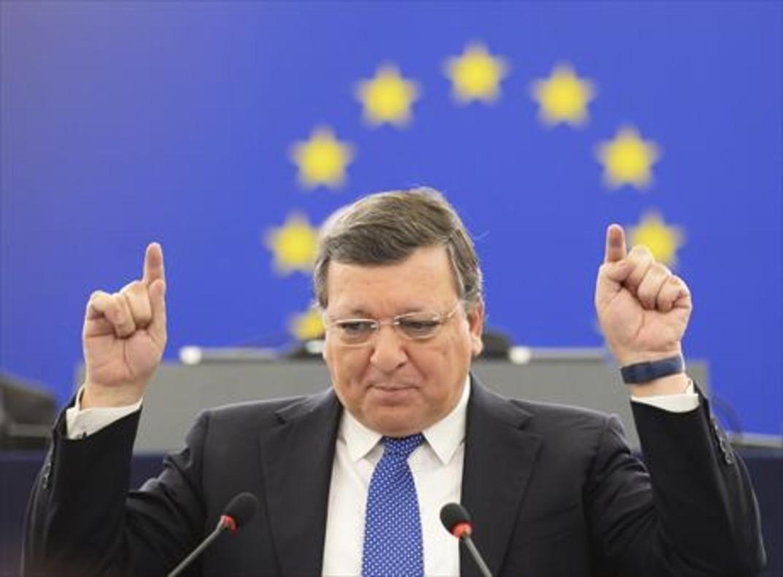 Barroso, durante su último discurso como presidente de la Comisión Europea, en octubre del 2014.