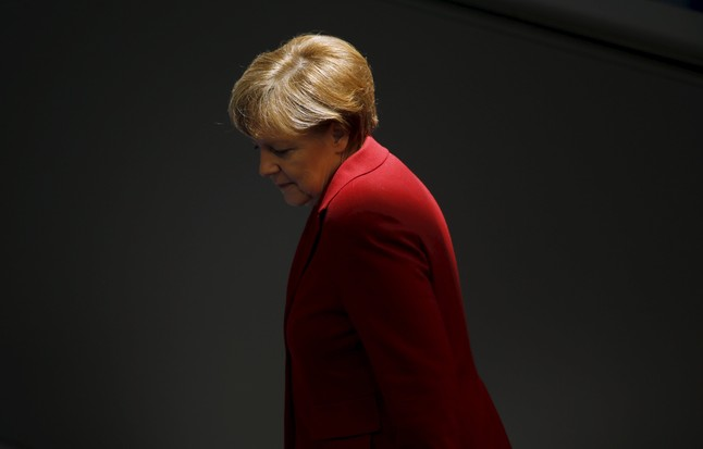 La canciller Angela Merkel ha sido uno de los miembros del Eurogrupo más duros con Grecia. En esta fotografía, se dirige a una reunión oficial en el Bundestag de Berlín.