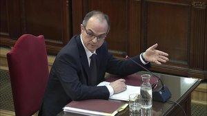 Captura de la señal institucional del Tribunal Supremo con la declaración de Jordi Turull.