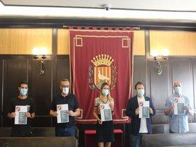 Pacte de tots els grups de l'Ajuntament de Santa Coloma per pal·liar la crisi de la Covid