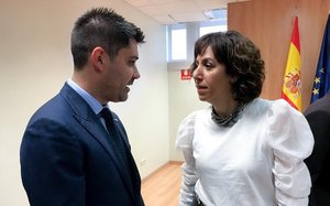 David Aganzo (AFE) conversa con Irene Lozano, responsable del CSD
