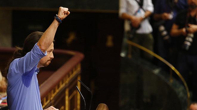 Debate de investidura de Rajoy. Iglesias dice a los populares que ellos son la corrupción y espeta aRivera que es el chicle de MacGyver del régimen porque sirve para todo.