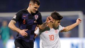 Dejan Lovren se burló de Sergio Ramos luego del encuentro entre Croacia y España.