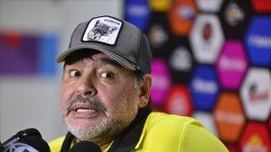 Maradona, actual entrenador delDorados de Sinaloa.