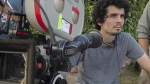 El director Damien Chazelle, en el rodaje de La La Land.