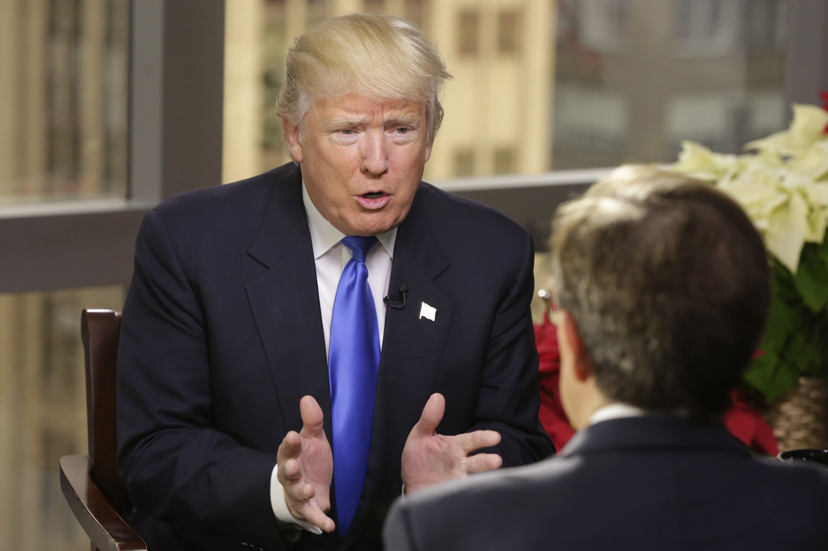 Trump durante la entrevista con Fox News.