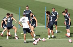 Entrenamiento del Real Madrid en Valdebebas.