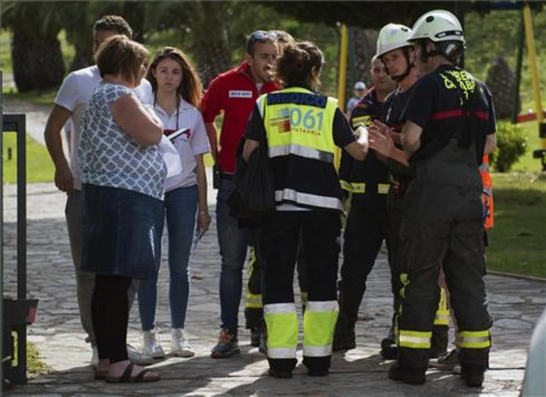 Cinco heridos graves y 22 leves por un escape de gas en un hotel de Cantabria