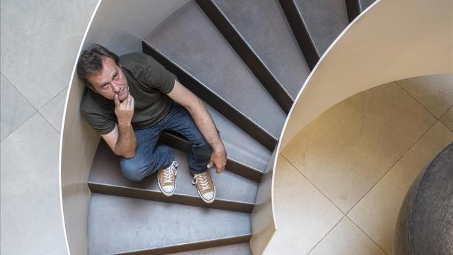 El escritor Marcos Giralt Torrente, en su reciente visita a Barcelona.