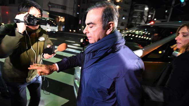 El expresidente de Nissan Carlos Ghosn, detenido de nuevo en Japón.