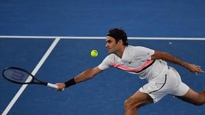 Federer, en su partido ante Struff.
