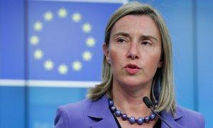 La alta representante de la Union EuropeaUE para la Política Exterior, Federica Mogherini.