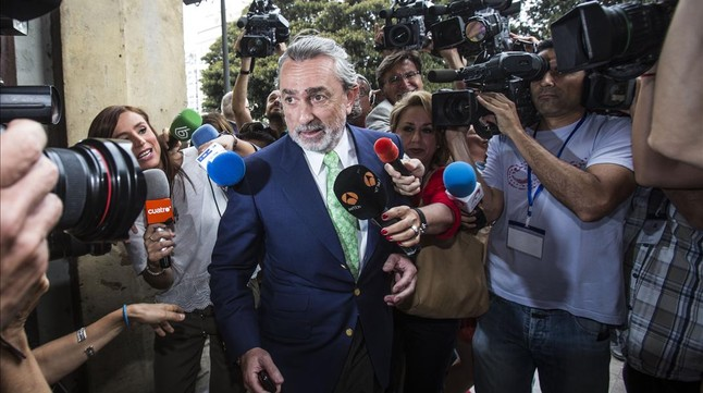 Francisco Correa a su llegada al juzgado.