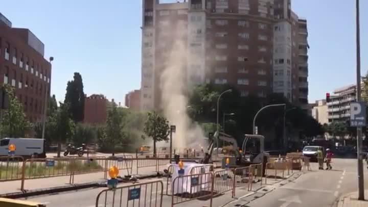 Fuga de gas en la Avenida President Companys de Badalona