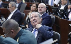 El Ministro de Defensa colombiano,Guillermo Botero.